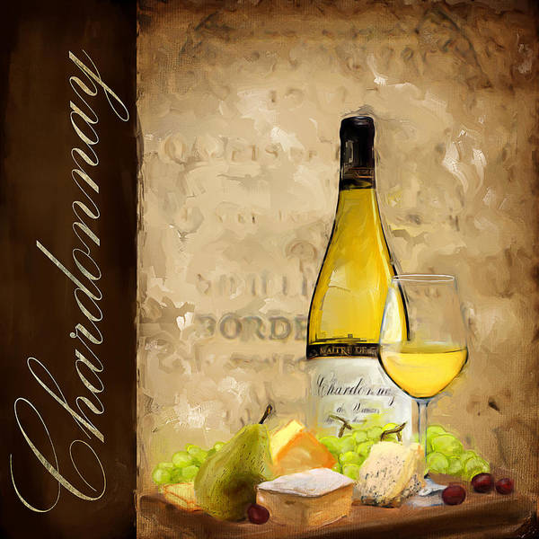 White Wine Wall Art - Painting - Chardonnay IIi by Lourry Legarde