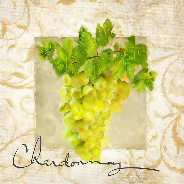Bread And Wine Painting - Chardonnay by Lourry Legarde