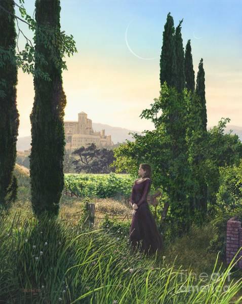 Wine Country Painting - Chardonnay Wine Country Fantasy by Stu Shepherd