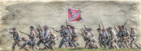 Charge Of The Virginia Regiment At Gettysburg Art Print