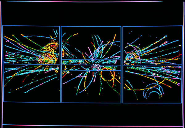 Subatomic Particle Photograph - Charged Particle Tracks At Cern by Cern/science Photo Library