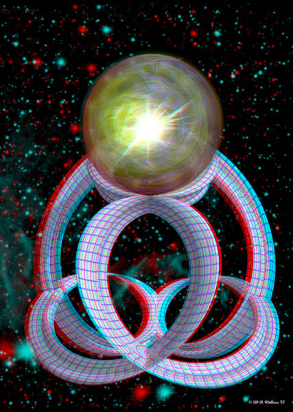 Stereoscopy Digital Art - Charging Station - Use Red-cyan Filtered 3d Glasses by Brian Wallace