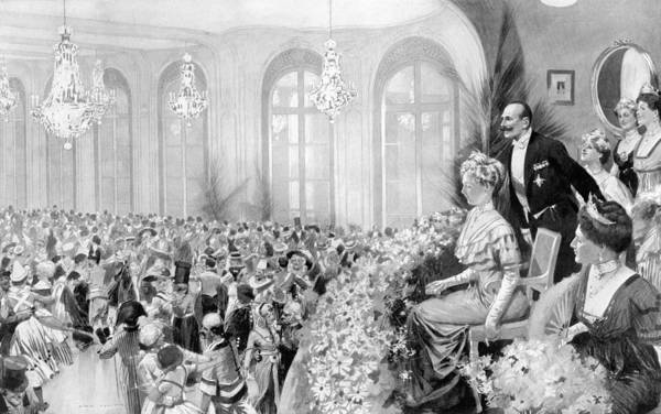 Drawing - Charity Ball, 1911 by Granger