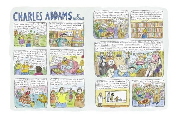 Brooklyn Drawing - Charles Addams by Roz Chast