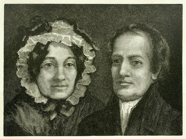 Wall Art - Drawing - Charles And Mary Lamb  Writers by Mary Evans Picture Library