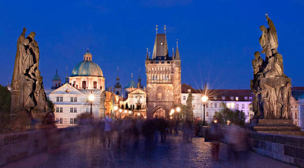 Photograph - Charles Bridge At Night / Prague by Barry O Carroll