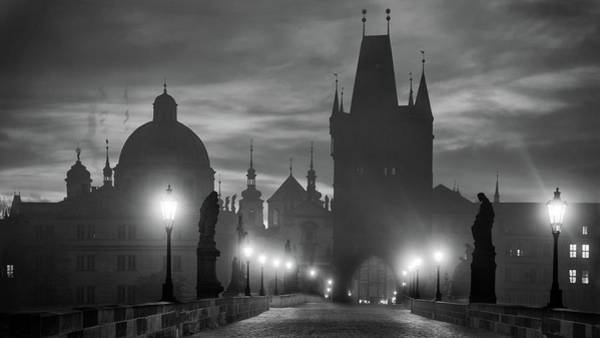 Lamp Wall Art - Photograph - Charles Bridge by Marcel Rebro