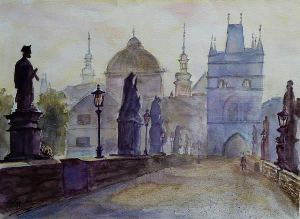Painting - Charles Bridge Prague by Xueling Zou