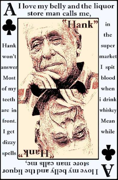 Post-it Painting - Charles Bukowski. The Ace Of Clubs by Brett Sixtysix