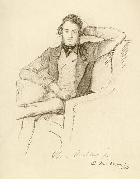 Wall Art - Drawing - Charles Buller  Statesman, At  The Age by Mary Evans Picture Library