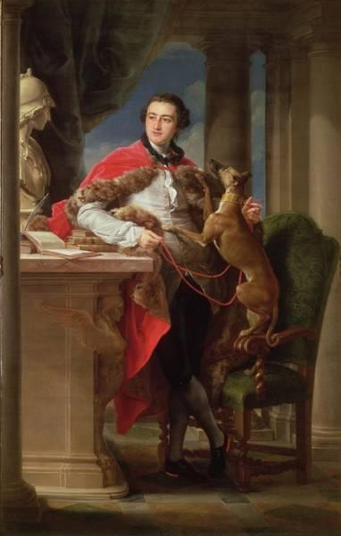 Whippet Wall Art - Painting - Charles Compton, 7th Earl by Pompeo Girolamo Batoni