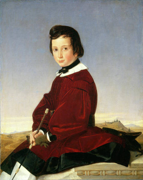 Wall Art - Painting - Charles David, French 1797-1869, Portrait Of A Young by Litz Collection