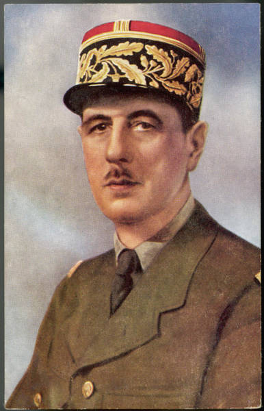 Wall Art - Photograph - Charles De Gaulle (1890 - 1970) French by Mary Evans Picture Library