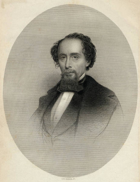 Wall Art - Drawing - Charles Dickens  Dickens In 1858 by Mary Evans Picture Library