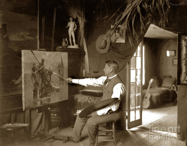 Photograph - Charles Dickman Artist Monterey California Circa 1907 by California Views Archives Mr Pat Hathaway Archives