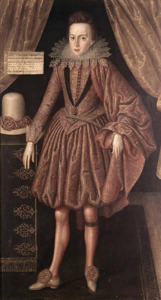 Garter Photograph - Charles I As Prince Of Wales, C.1612-13 by Robert, the Elder Peake