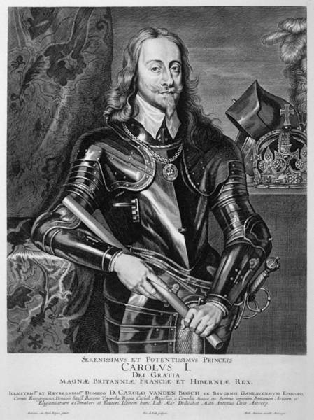 Wall Art - Drawing - Charles I Of England  Reigned 1625-49 by Mary Evans Picture Library