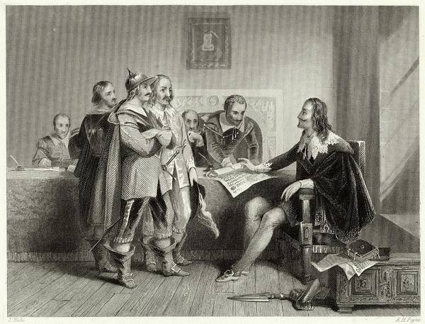 Wall Art - Drawing - Charles I Rejects The Treaty  Of Oxford by Mary Evans Picture Library