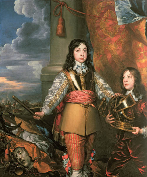 Baroque Photograph - Charles II As Prince Of Wales With A Page, C.1642 Oil On Canvas by William Dobson