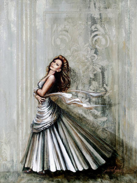 Painting - Swan Gown by Joan Garcia