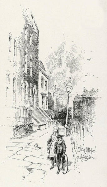 Wall Art - Drawing - Charles Lamb  Elia Cottage, Islington by Mary Evans Picture Library