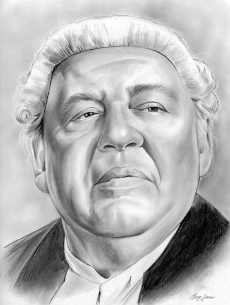 Charles Drawing - Charles Laughton by Greg Joens