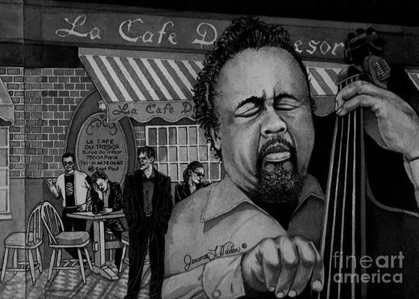 Hard Bop Wall Art - Painting - Jazz Charles Mingus Jr by JL Vaden