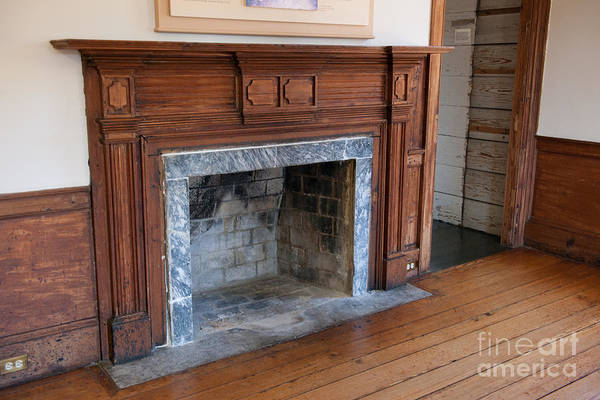 Photograph - Charles Pinckney Fireplace by Dale Powell