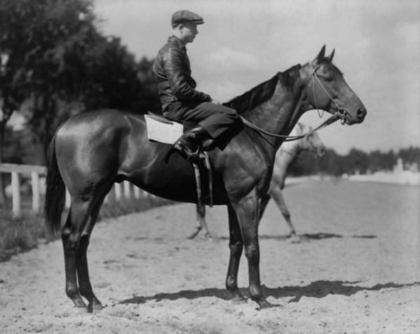Racetrack Photograph - Charles S. Howards Favorite Picture by Everett