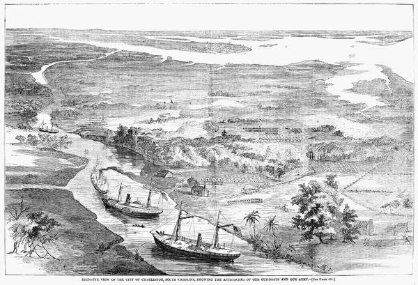 Wall Art - Painting - Charleston, 1862 by Granger
