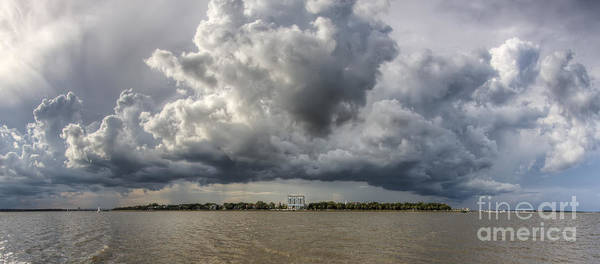 Photograph - Charleston Battery Rain Clouds by Dustin K Ryan