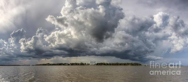 Battery Photograph - Charleston Battery Rain Clouds by Dustin K Ryan