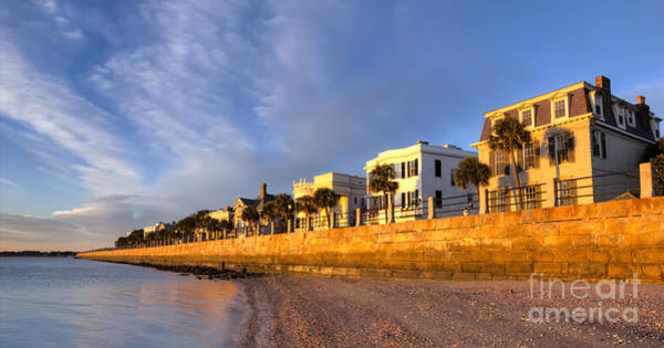 Photograph - Charleston East Battery Homes by Dustin K Ryan