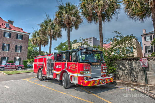 Photograph - Charleston Fire Dept  by Dale Powell