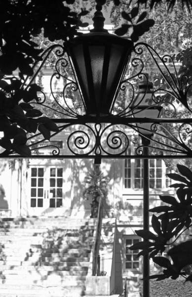 Wall Art - Photograph - Charleston Gateway II In Black And White by Suzanne Gaff
