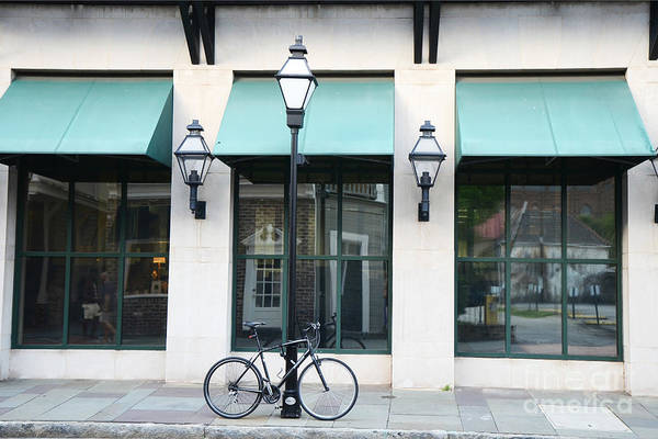 Wall Art - Photograph - Charleston Historical District Architecture Buildings And Bicycle Street Scene by Kathy Fornal