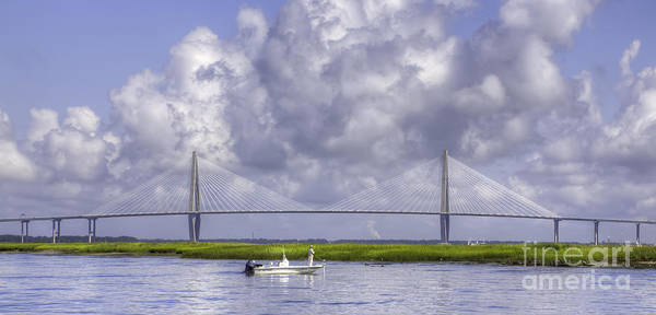 Photograph - Charleston Inshore Fishing Cooper River Bridge by Dustin K Ryan