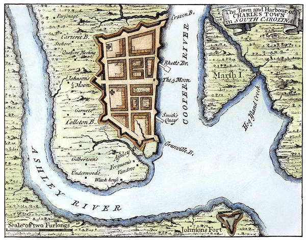 Photograph - Charleston, Sc, 1732 by Granger