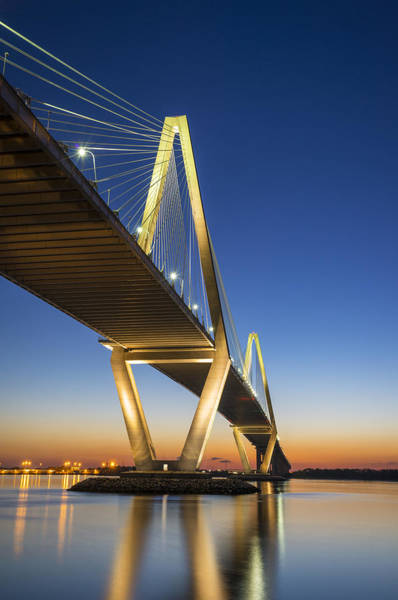 Sc Wall Art - Photograph - Charleston Sc Arthur Ravenel Jr. Bridge At Sunset by Dave Allen