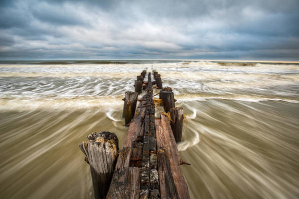Sc Wall Art - Photograph - Charleston Sc Folly Beach Coastal Atlantic Ocean by Dave Allen