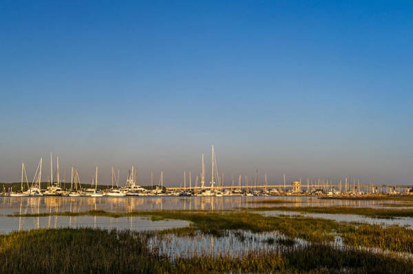 Low Battery Photograph - Charleston Sc Harbor At Golden Hour by Willie Harper