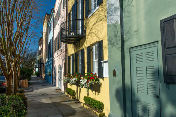 Low Battery Photograph - Charleston Sc Rainbow Houses by Willie Harper