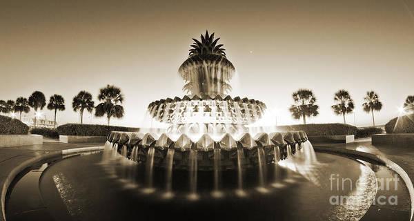 Pineapple Photograph - Charleston Waterfront Park Pineapple Fountain by Dustin K Ryan