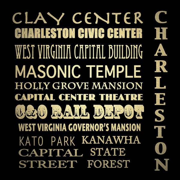 Charleston Digital Art - Charleston Wv Famous Landmarks by Patricia Lintner