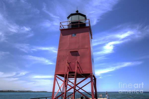Charlevoix Photograph - Charlevoix Lighthouse by Twenty Two North Photography
