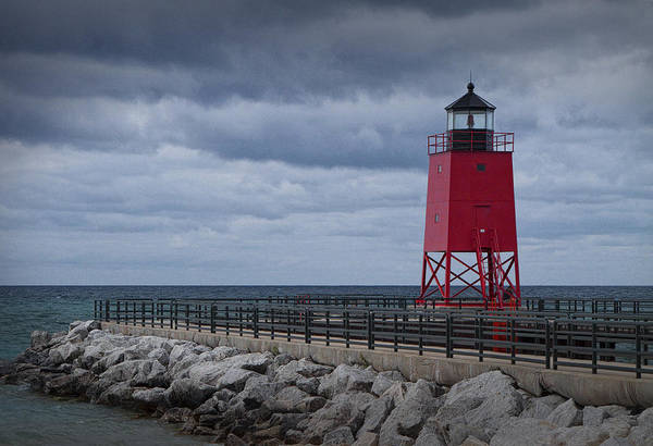 Charlevoix Photograph - Charlevoix Michigan Lighthouse by Randall Nyhof
