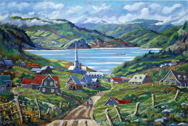 Canadien Painting - Charlevoix Scene by Richard T Pranke