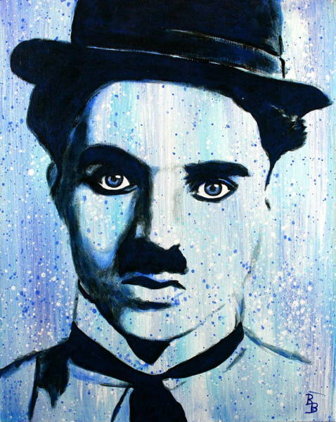 Painting - Charlie Chaplin Little Tramp Portrait by Bob Baker