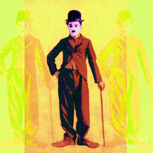 Photograph - Charlie Chaplin The Tramp Three 20130216p30 by Wingsdomain Art and Photography