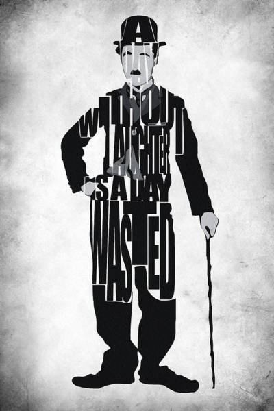 Charlie Chaplin Typography Poster Art Print